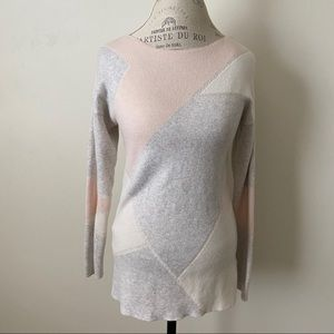 Pixley Small Pink Grey & White Long Sleeve Sweater